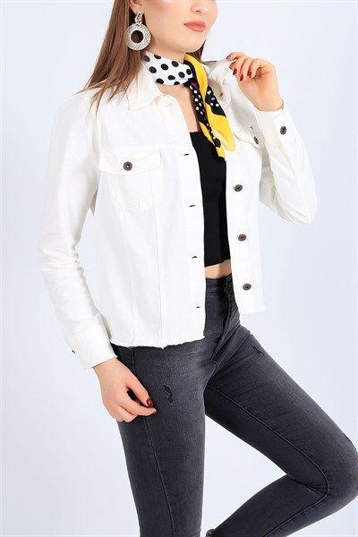44 95 Tl Gabardin Beyaz Yazlik Bayan Ceket 27111b Modamizbir 2020 Moda Mankenler Giyim