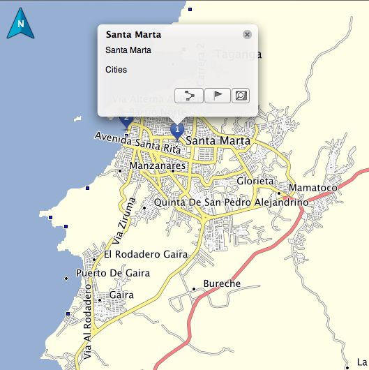 Santa Marta Colombia Driving Directions Colombia GPS Map Garmin – Travel Directions Maps