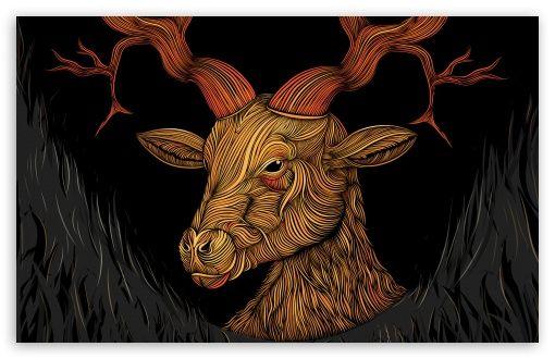 Deer God Hd Wallpaper For 4k Uhd Widescreen Desktop Smartphone Animation Artwork Wallpaper Artistic Wallpaper