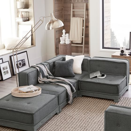 Build Your Own Cushy Sectional Pottery Barn In 2019