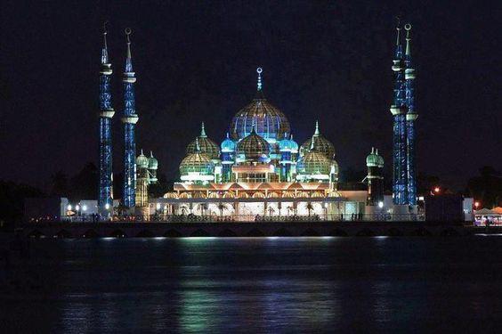 Crystal Mosque in Terenqqanu, Malaysia: Beautiful Mosques, Beautiful Photos, Islamic Places, Islamic Architecture, Beautiful Places, Islamic ️Architecture, Amazing Photos, Crystal Mosque Malaysia Jpg