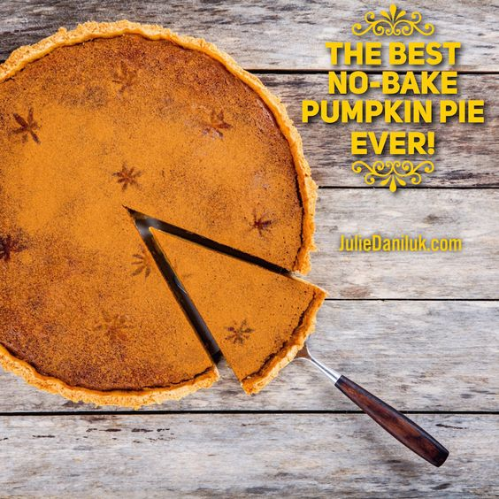 The Best No-Bake Pumpkin Pie Ever: with chopped pecan crust!