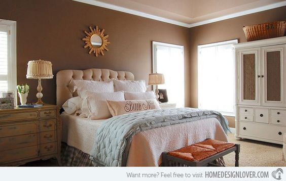 20 Master Bedroom Colors Carpet Colors Peach Bedroom And Chocolate Brown