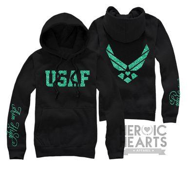 Aim High Air Force Hoodie/Sweatshirt/Long Sleeve