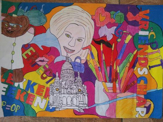 Collage tekening van Mandy: