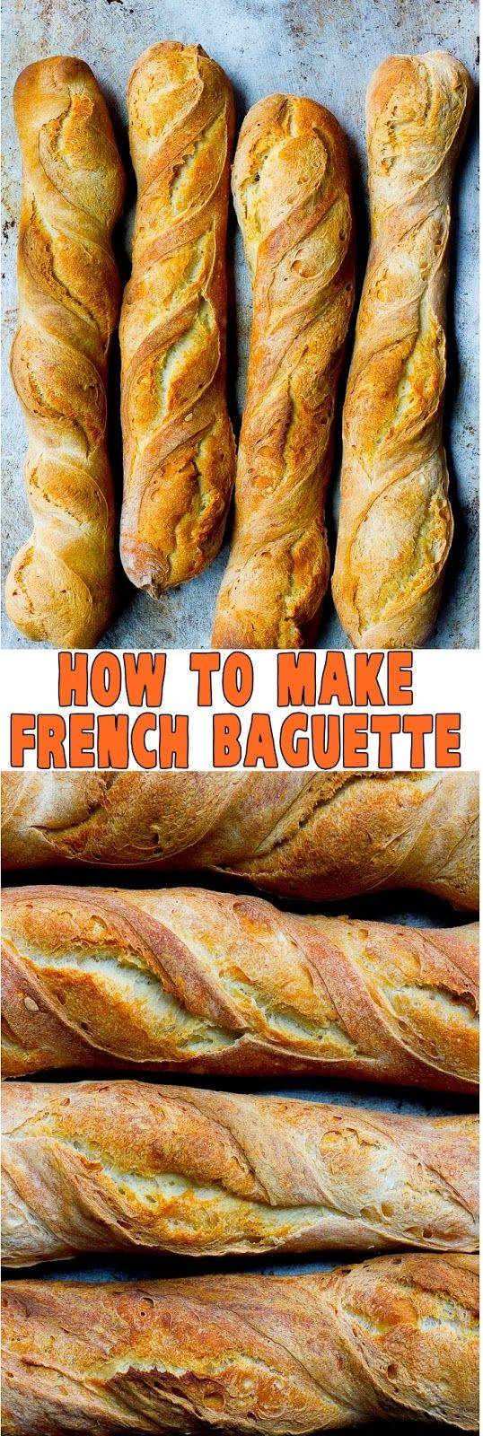 HOW TO MAKE FRENCH BAGUETTE  Chicken slow cooker recipes, Cooking