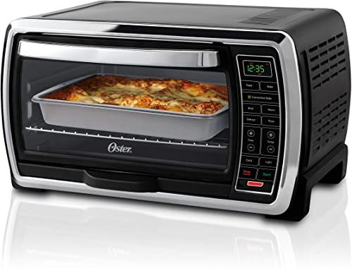 New Oster Toaster Oven Digital Convection Oven Large 6 Slice Capacity Black Polished Stainless Online Shopping