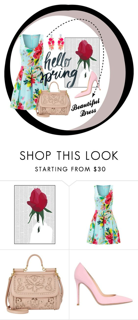 """""""Hello spring"""" by fiore1ge ❤ liked on Polyvore featuring Spineless Classics, Trina Turk, Dolce&Gabbana, Gianvito Rossi and Accessorize"""