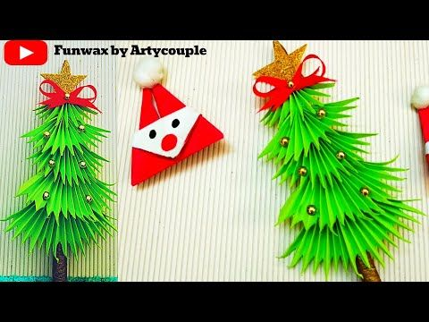 Paper Christmas Tree Diy 3d Paper Xmas Tree Making Christmas Decoration Ideas Youtube Christmas Decorations Paper Christmas Tree Diy Christmas Tree