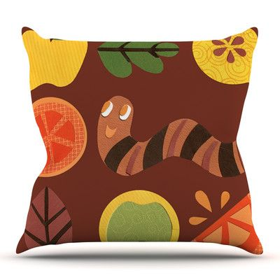 East Urban Home Autumn Repeat by Jane Smith Outdoor Throw Pillow