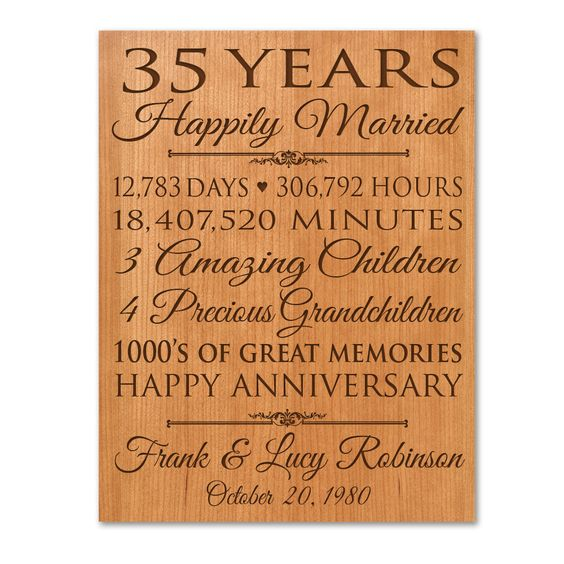Gift Ideas For Parents 35th Wedding Anniversary : ... gifts for her gifts anniversary gift for her wedding anniversary gifts
