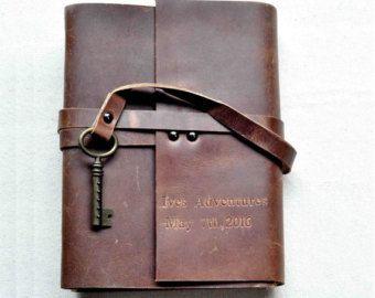 Cuaderno de cuero personalizado diario de cuero por MarkGroomGift