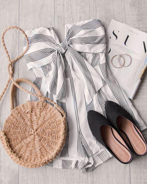 Coronado Stripe Romper #shoppriceless