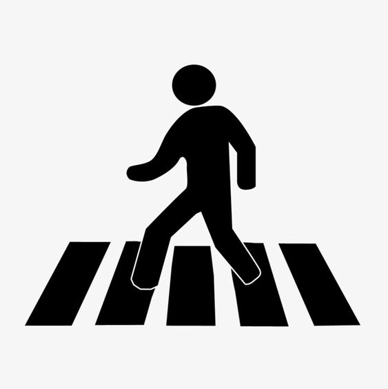 Silhouette Pedestrian The Road Pedestrian The Road Zebra Png Transparent Clipart Image And Psd File For Free Download Road Vector Cityscape Drawing Pedestrian Crossing