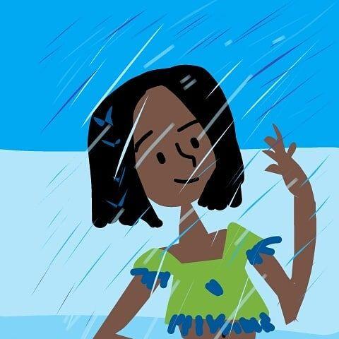 Dibujo Nina Bajo La Lluvia En 2020 Nino Bajo La Lluvia Ninas Bajas Ninos