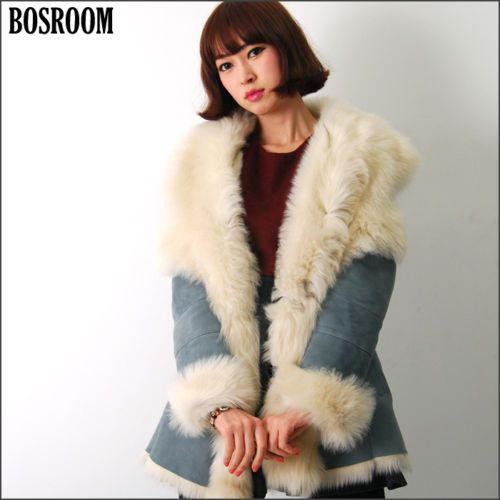 Soft & Cute. Sheepskin fur coat