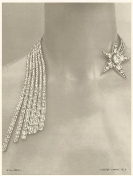 """Chanel fine jewelry - circa 1932...okay- not exactly """"my"""" style...but what an awesome design!"""