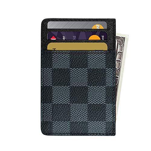 Men/'s Retro Leather Minimalist Credit Card Holder Slim Front Pocket Wallet