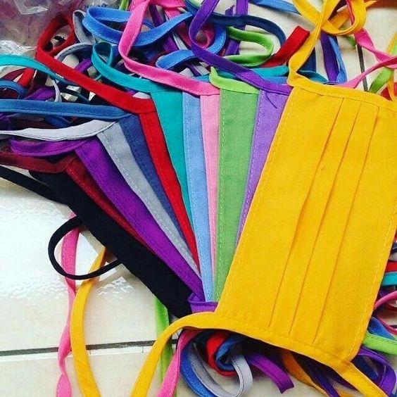 Masker kain warna warni WA 087823471020