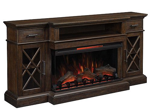 Hamilton 70 Tv Console W Electric Fireplace Akvarium