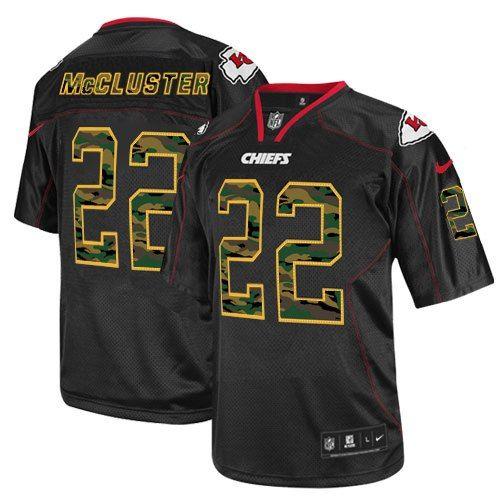 Men's Nike Kansas City Chiefs #22 Dexter McCluster Elite Black Camo Fashion Jersey $129.99
