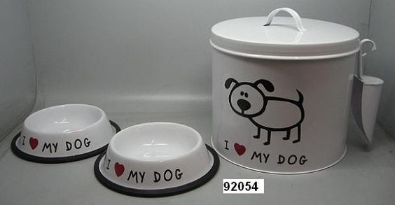 Dog Food Container with Water / Food Bowl