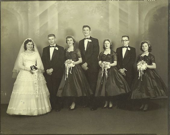 1956 Wedding party: