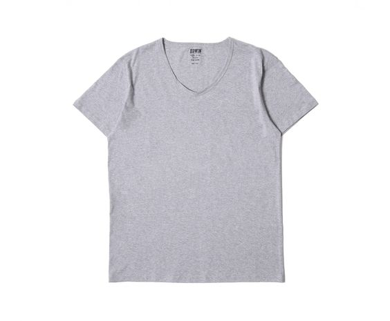 Double Pack V-Neck SS Tee Grey Marl