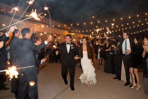 Whitney & Robert get a sparkler send-off after their gorgeous, rustic wedding at Mountain Park in Upstate SC.   Chris Isham