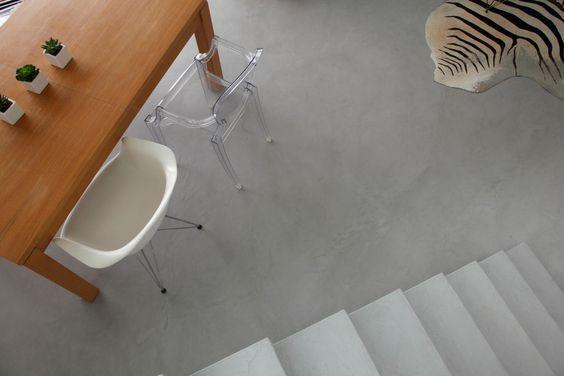 Waxed concrete floor