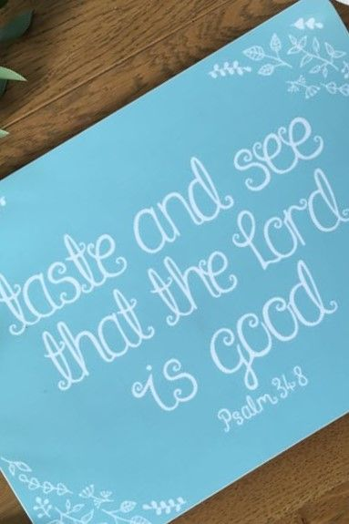 Taste And See That The Lord Is Good Psalm 34 8 Set Of Four Placemats Cheerfully Given The Lord Is Good Thanksgiving Decorations Diy Taste And See