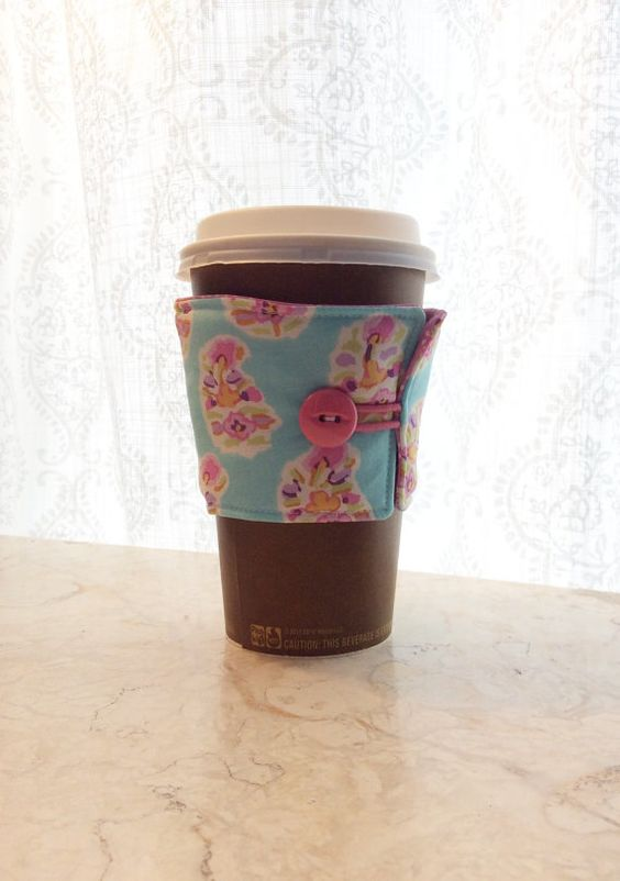 Coffee cozy by BitsOfI on Etsy