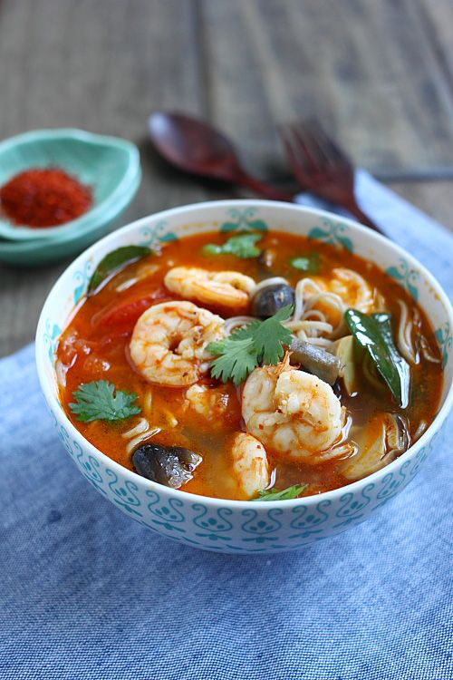 15-Minute Tom Yum Noodle Soup | Recipe | Tom yum noodle soup and Easy ...
