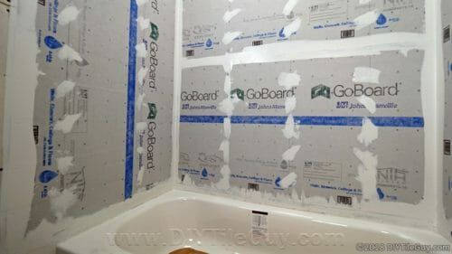 Step By Step Tutorial With Video On How To Install Goboard Tile Backer Board Around Tub Walls Goboard Tile Backer Is A Lightweight Tub Tile Shower Tile Shower