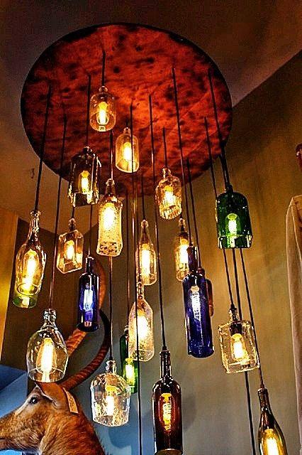 Mooie lamp gemaakt van oud hout en eenvoudige peertjes.. Reclaimed ...