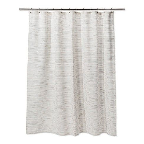 Woven Metallic Slub Shower Curtain Sour Cream Project 62