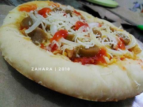 Resep Chicken Pizza Teflon Eggless Oleh Zahara Resep Makanan Makanan Dan Minuman Adonan