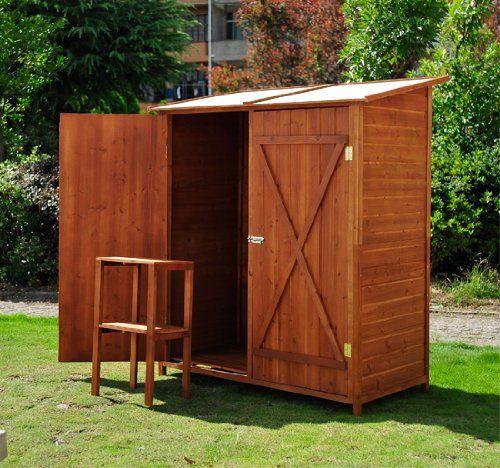 Outsunny casetta per esterno in legno ripostiglio da for Armadio per esterno 90 cm