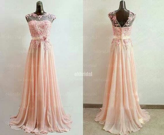 Beautiful peach colored bridesmaids dress by Sposa wedding dresses ...