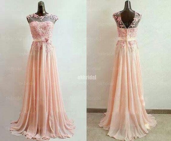Beautiful peach colored bridesmaids dress by Sposa wedding dresses ...