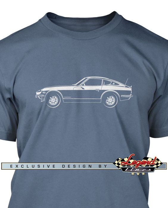 Datsun 240Z 260Z 280Z - Lights of Art T-Shirt - A game of subtle lights and shadows reveal the magnificent curves of the body of this Legendary Coupe. Detailed and harmonious, the illustration has grabbed the essence of one of the most influential vehicle of the 20th century. A true Legend that lives forever: the Datsun 240Z 260Z 280Z T-Shirt!