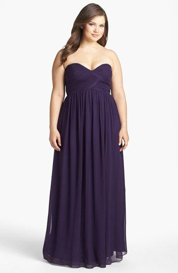 Donna Morgan 'Laura' Ruched Sweetheart Silk Chiffon Gown (Regular & Plus)   Nordstrom