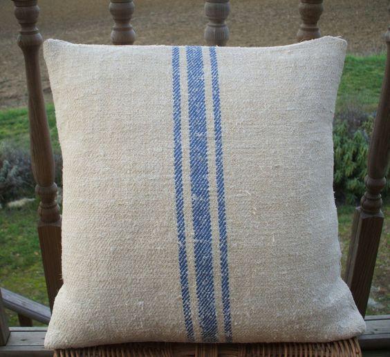 Antique European Handwoven Grainsack Fabric Hemp Linen