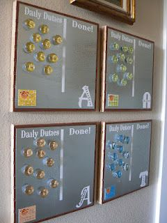 "The Creative Homemaker: Kids ""Daily Duties"" Board"