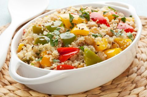 Whole-wheat couscous with Spinach and Squash