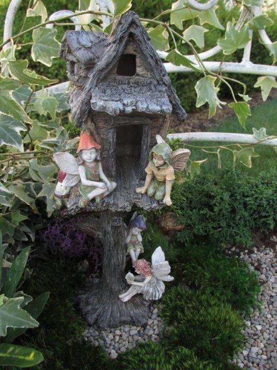 Miniature Dollhouse FAIRY GARDEN ~ Woodland Tree House ~ NEW