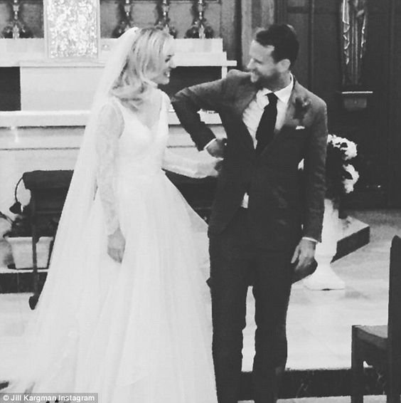 They said they do: SNL alum and Odd Mom Out star Abby Elliott exchanged vows with House of Cards writer Bill Kennedy on Saturday in a church service in Connecticut