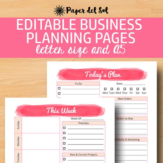 Direct Sales Planner A5, Business Planner Printable, Business Plan - business sales letter