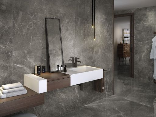 Grey Marble In 2020 Gray And White Bathroom Grey Marble