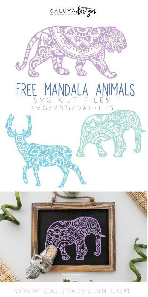 Animal Mandala Svg Free : animal, mandala, Silhouette